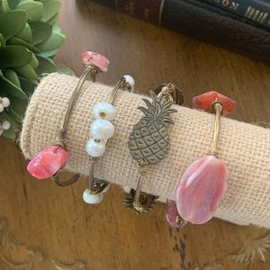 Set of 4 Bourbon and Bowties Bracelets